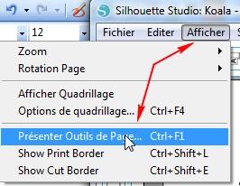 01 - Comment faire un print & cut ? MenuAfficherPage