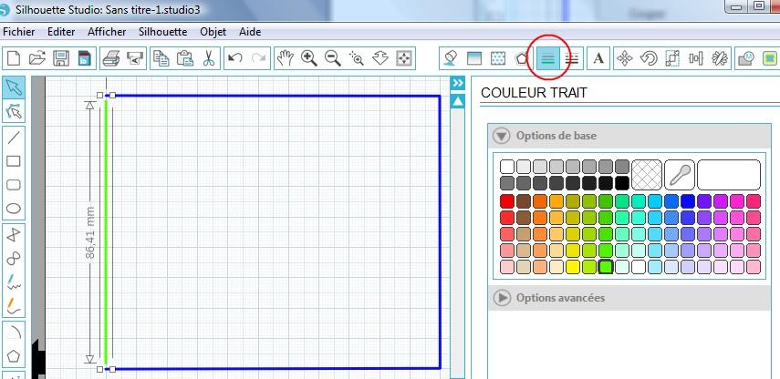 14 - Créer des pointillés dans une forme fermée PointillesFormes_SelectionVerte