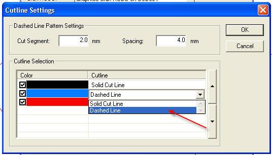 Décupe en pointillé Cutline_Settings