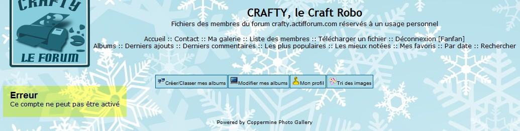 06 - La galerie : inscription (obligatoire) ConnexionErreur_galerie