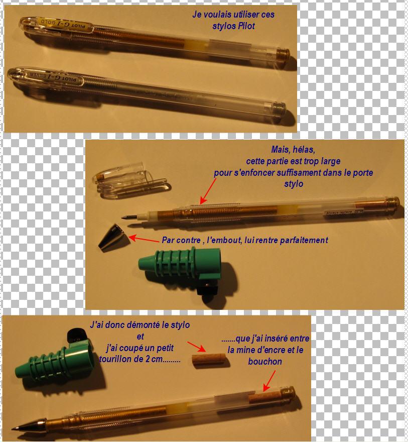 stylo - Truc pour utiliser un stylo Pilot G1 StyloPilot-PorteCrayon