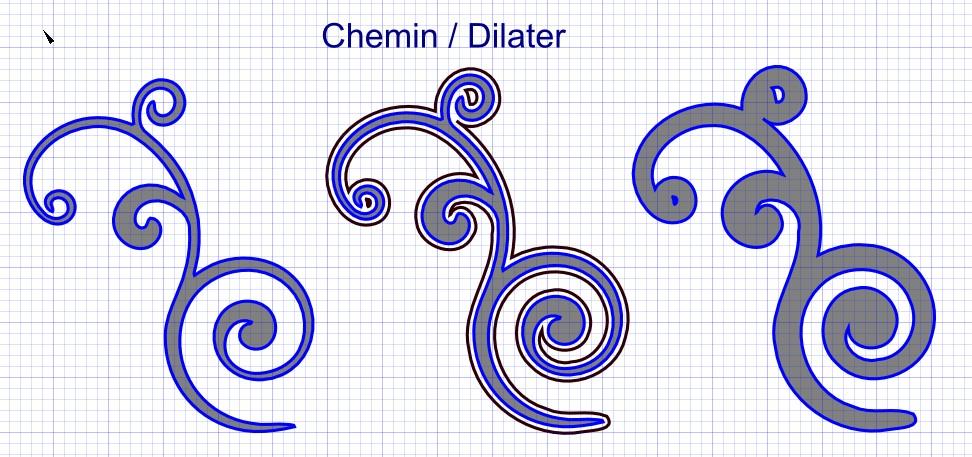 [Inkscape] Tuto & Vidéo : Dilater un tracé CheminDilater
